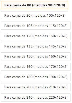 Medidas disponibles de cabeceros de cama con tachuela: para cama de 90 cm, para cama de 80 cm, para cama de 105 cm, para cama de 120 cm, para cama de 135 cm, para cama de 150 cm, para cama de 160 cm, para cama de 180 cm, para cama de 190 cm, para cama de 200 cm, para cama de 210 cm